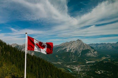 คลังภาพถ่ายฟรี ของ ท้องฟ้า, ท้องฟ้าสีคราม, ธง, ธงแคนาดา