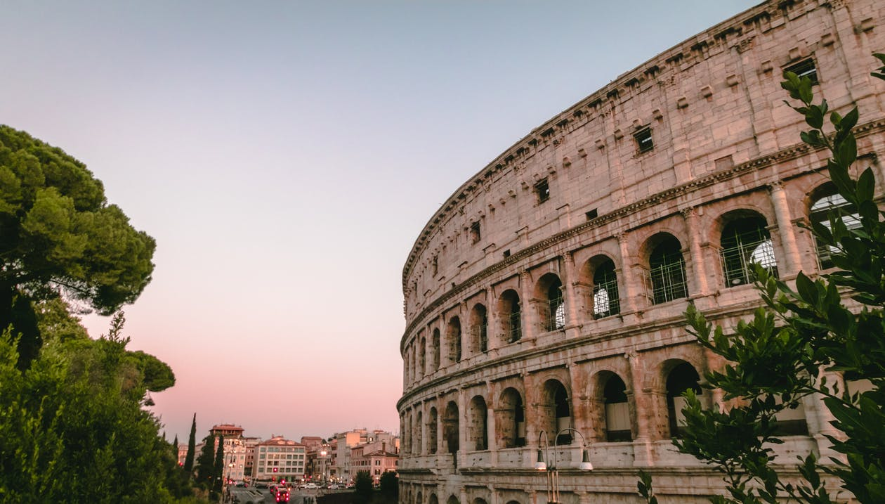 Photo of Coliseum During Golden Hour