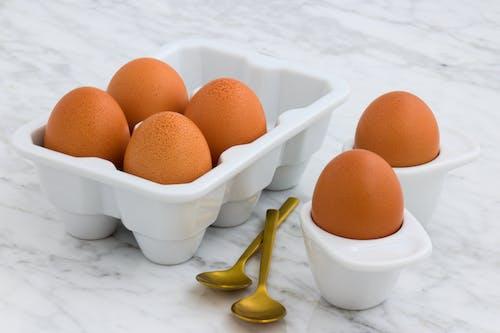 Free stock photo of baking, breakfast, brown-eggs, carrara-marble