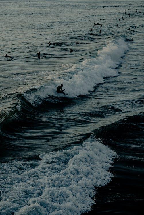 akció, csobbanás, habzó tenger
