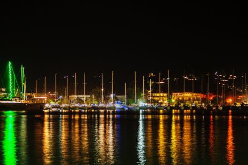 그리스, 만, 밤, 베이 지역의 무료 스톡 사진