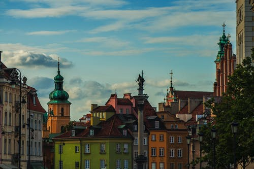Free stock photo of buildings, old town, warsaw