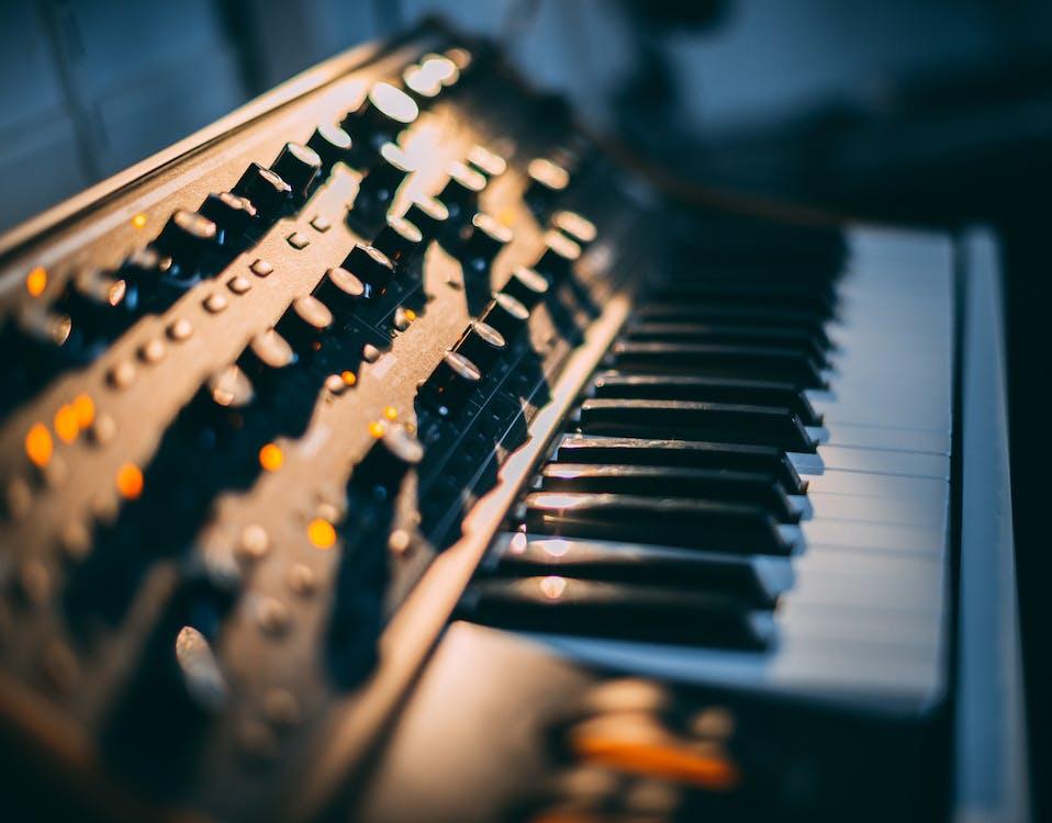 adâncime de câmp, cheie, clape de pian