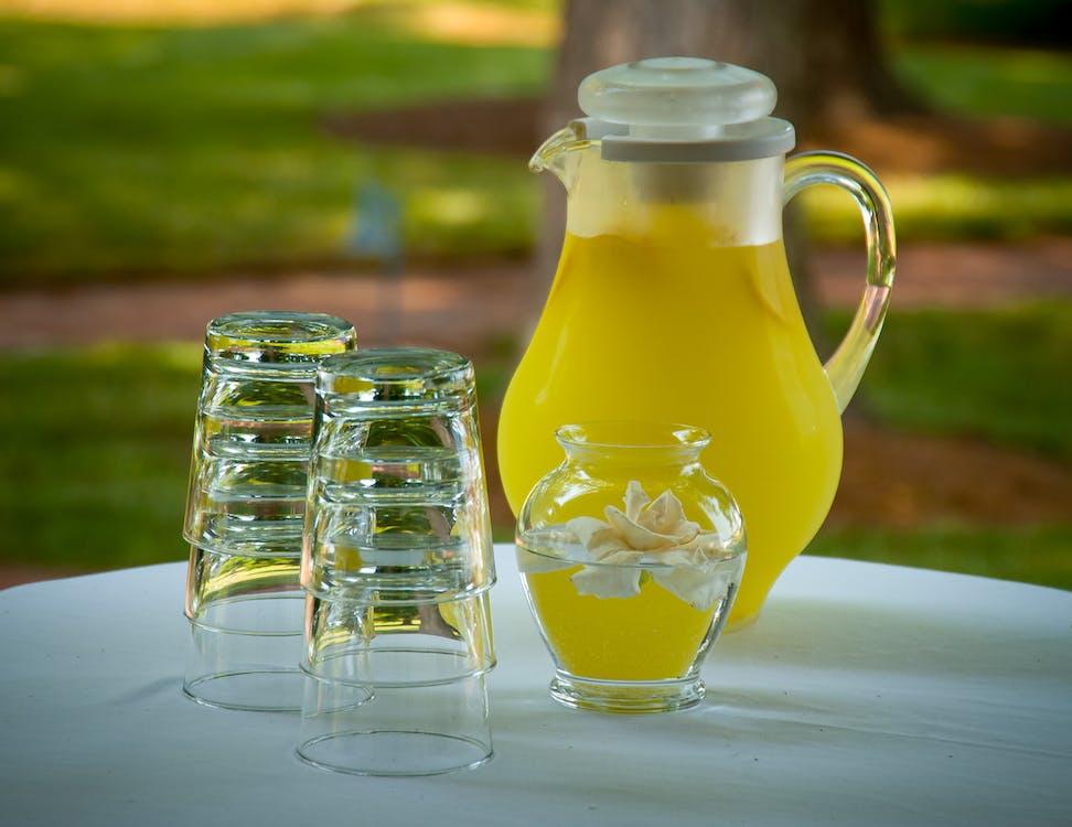 citroen, drinken, geel
