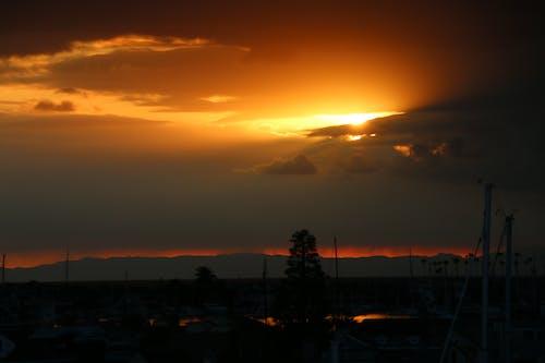 Free stock photo of orange county, sunset