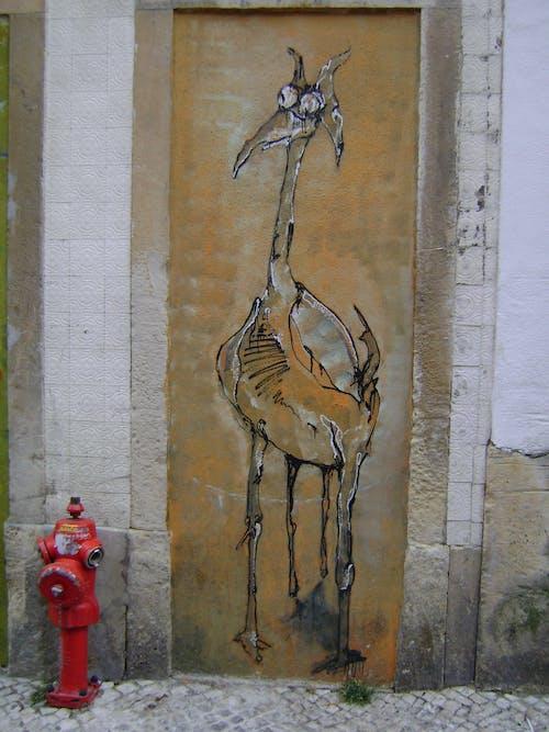 Free stock photo of fire hydrant, giraffe, lisboa