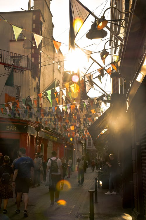 Free stock photo of dublin, everyday people, flags