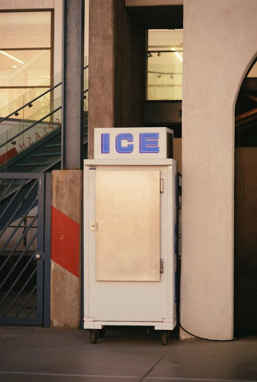 Photo of An Old Ice Cube Refrigerator