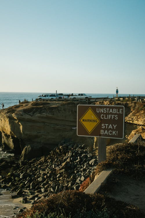 Unstable Cliffs Signage