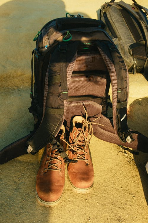 Brown Shoes and Backpack