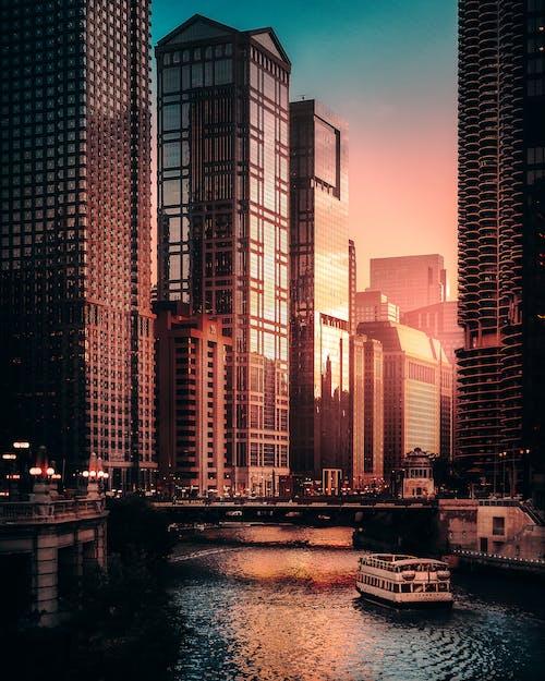 Photos gratuites de architecture, bâtiments, centre-ville, chicago