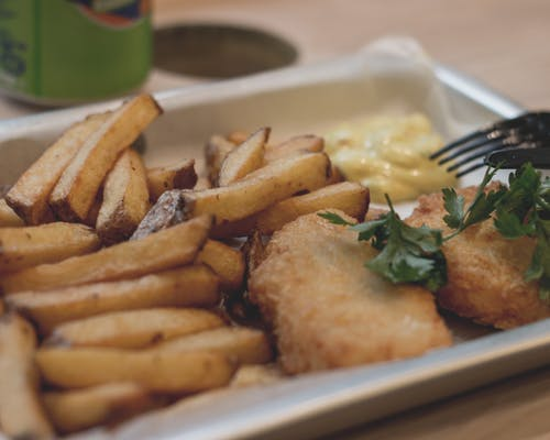 Free stock photo of fish, fish and chips, food, french fries