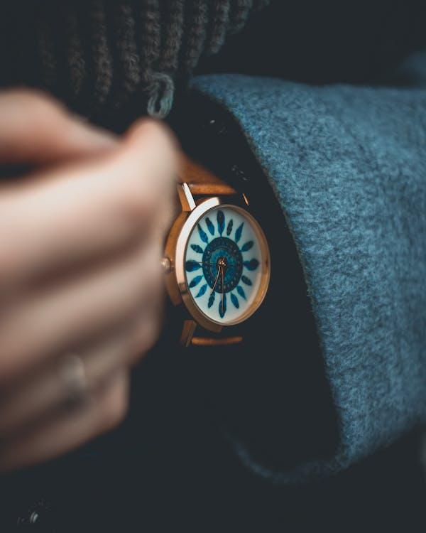 accessoire, analoge uhr, armbanduhr