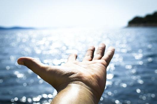 Kostenloses Stock Foto zu meer, mann, strand, urlaub