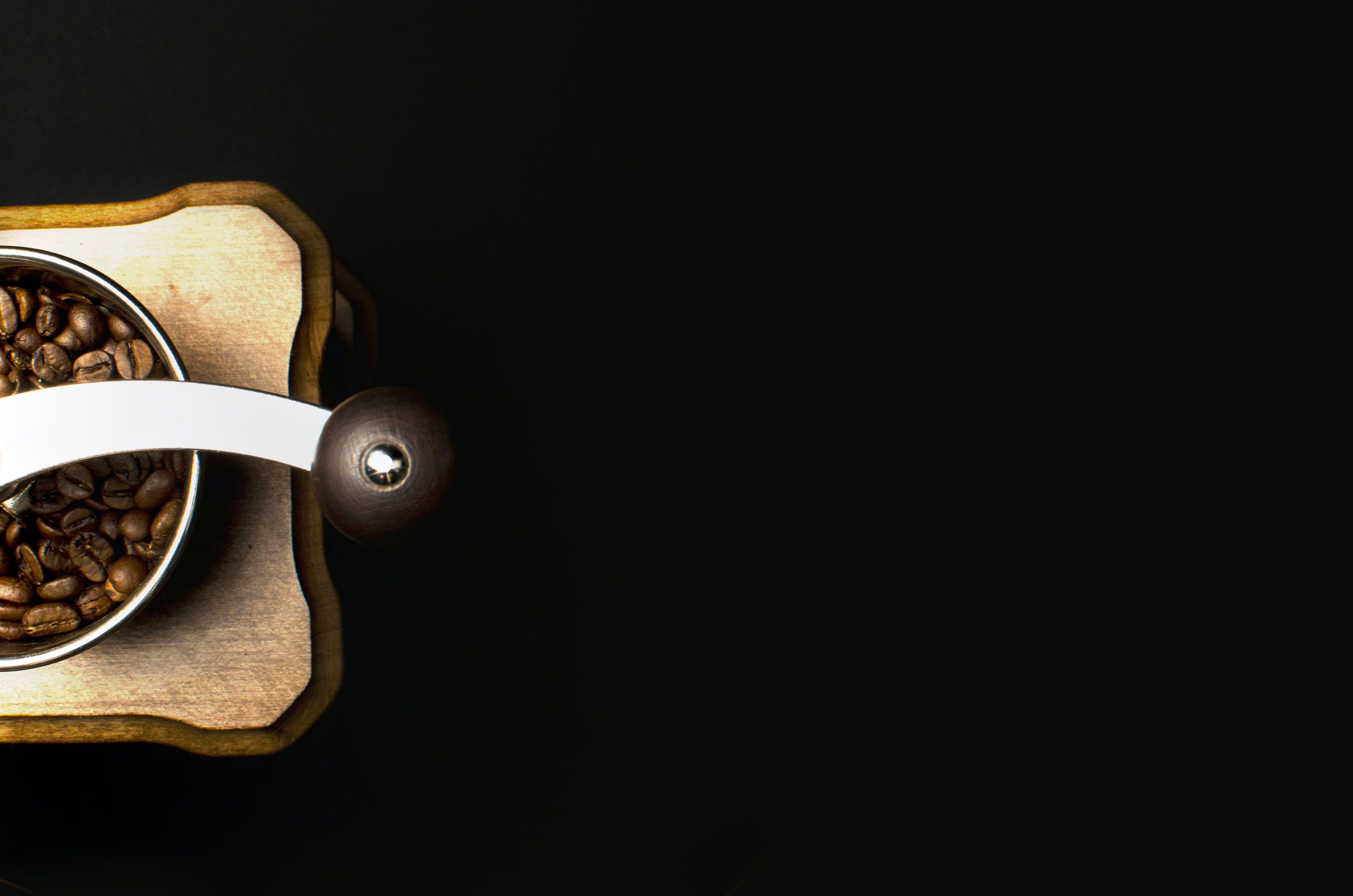 Ingyenes stockfotó acél, aroma, babszemek, barna témában