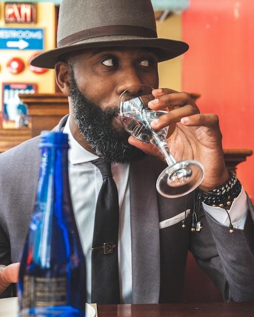 Imagine de stoc gratuită din apă, barbă mare, bărbat afro-american, bărbat de culoare