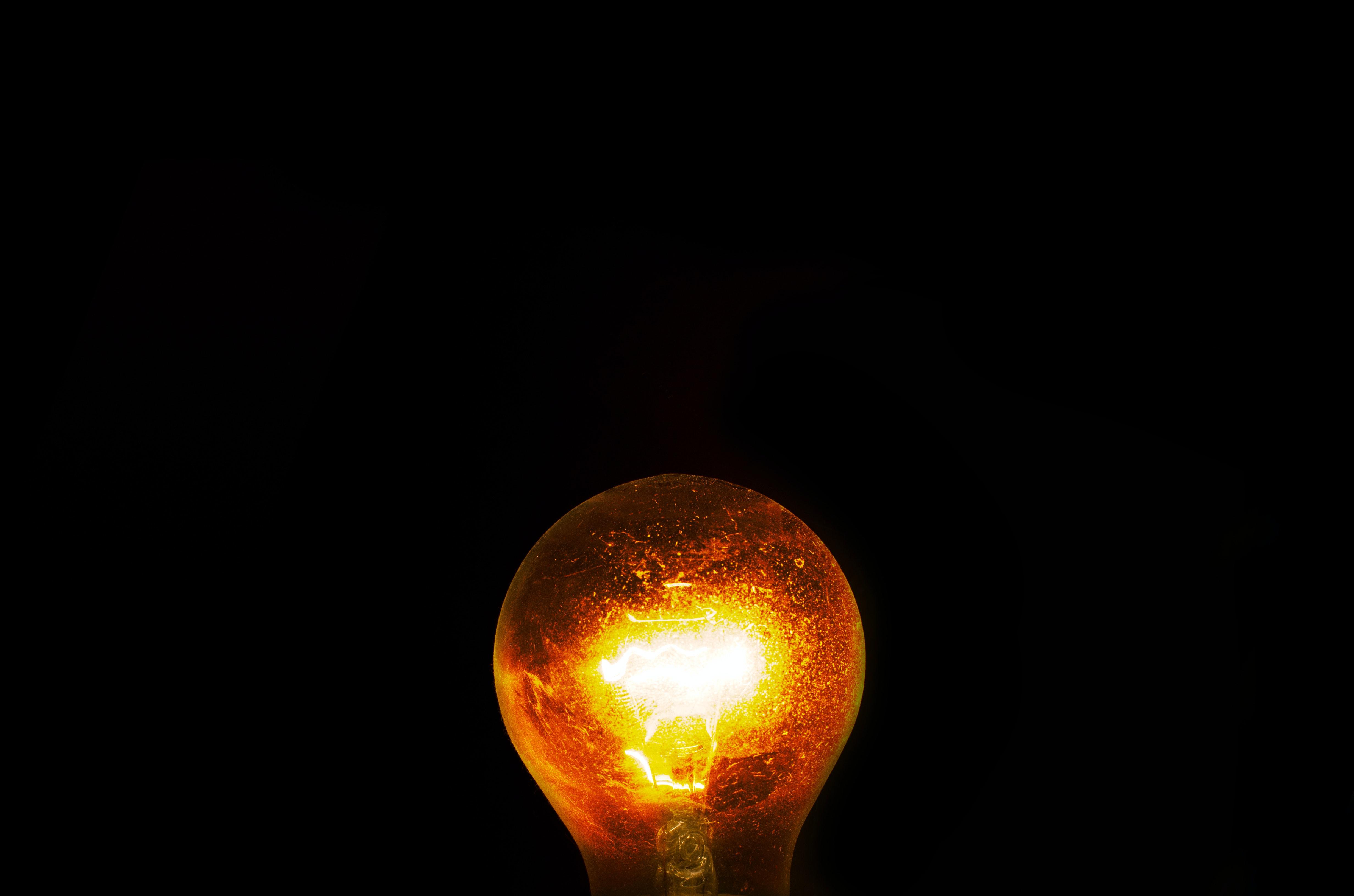 White Twist Light Bulb 183 Free Stock Photo