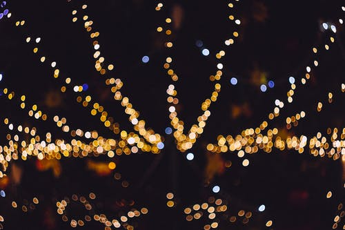 Immagine gratuita di giallo, luci di natale, ombre