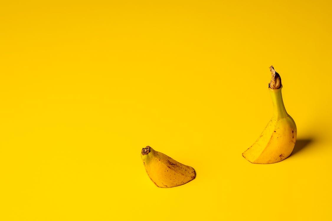 banan, färg, frukt