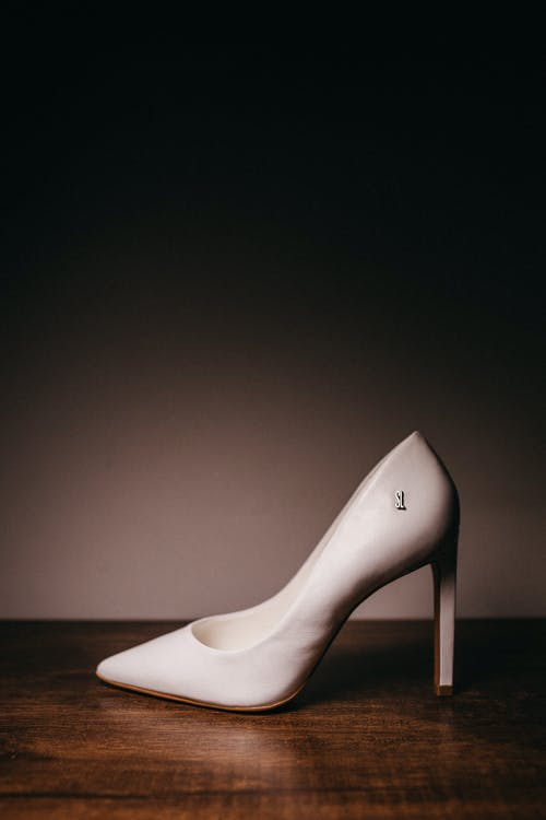 Women's White Leather Shoe