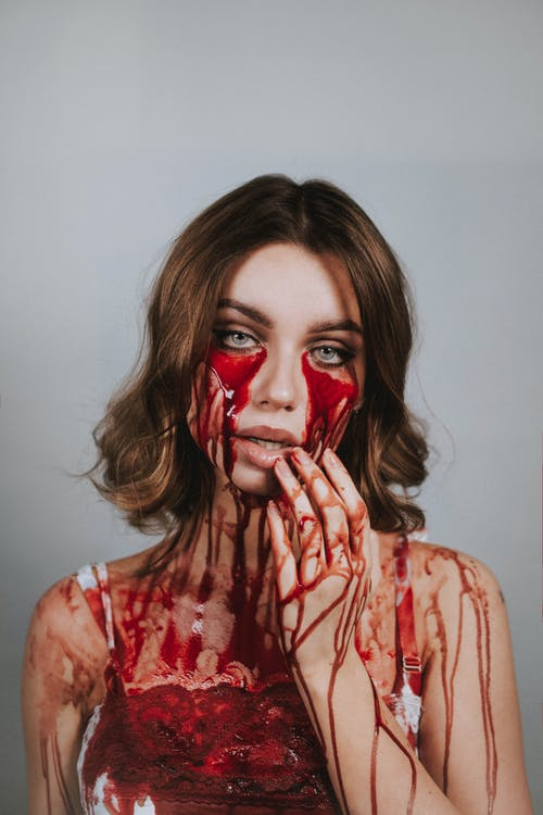 Foto d'estoc gratuïta de esgarrifós, halloween, sagnant, sang