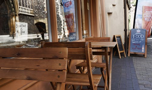 Fotos de stock gratuitas de bar cafetería, cafetería, calle, comida