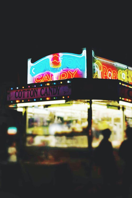 公平, 县集市, 州公平, 晚上 的 免费素材照片