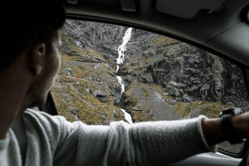 Foto stok gratis air, air terjun, Batuan berlumut, di luar rumah