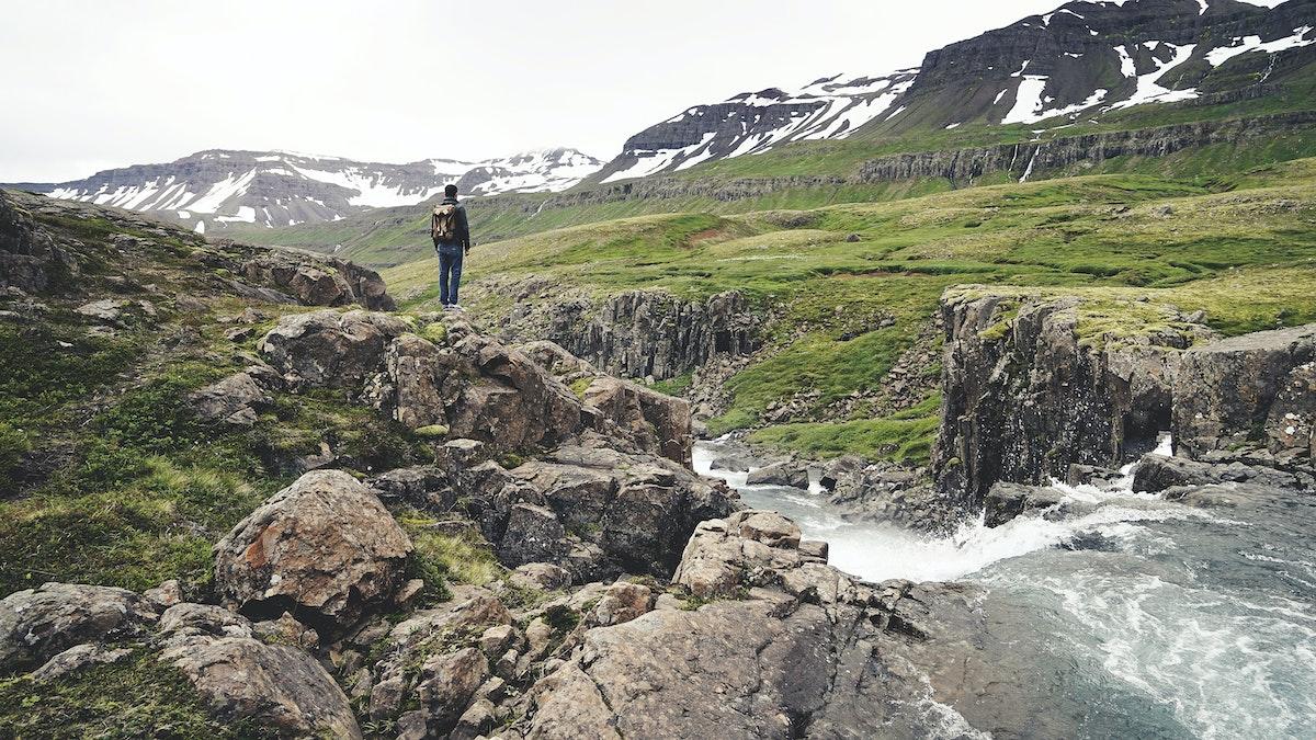 free stock photo of hiker hiking man