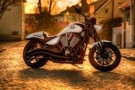 vehicle, pavement, motorbike