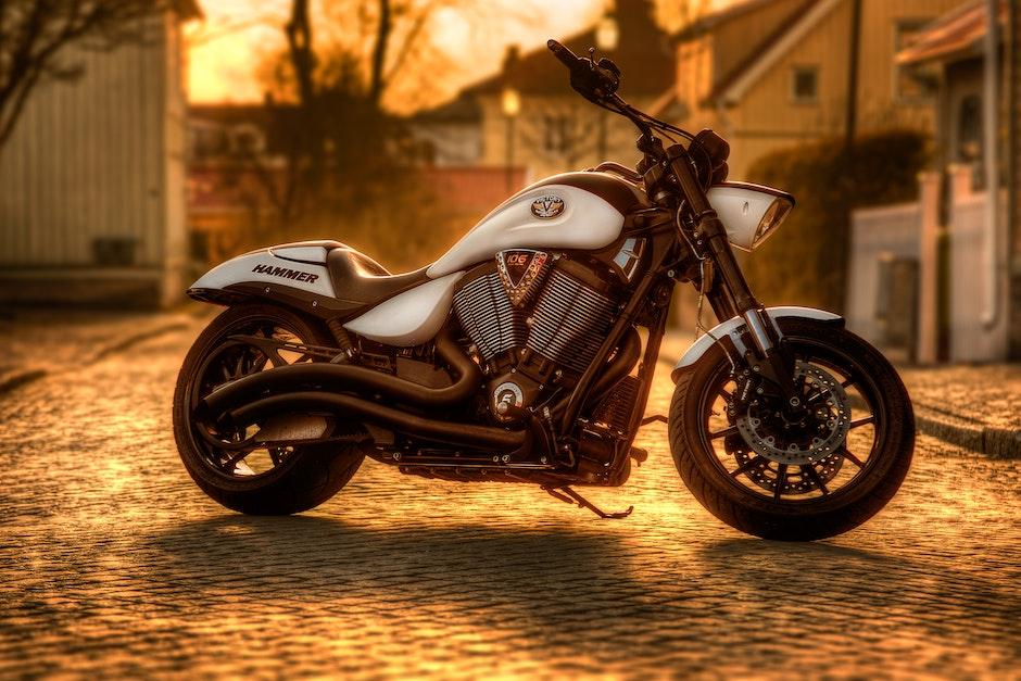 motorbike, motorcycle, pavement