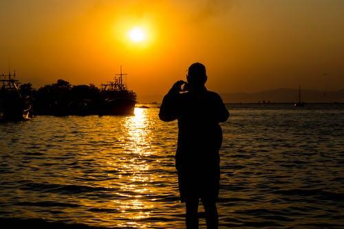 日落, 美麗的夕陽, 落日下的海灘, 落日的天空 的 免費圖庫相片