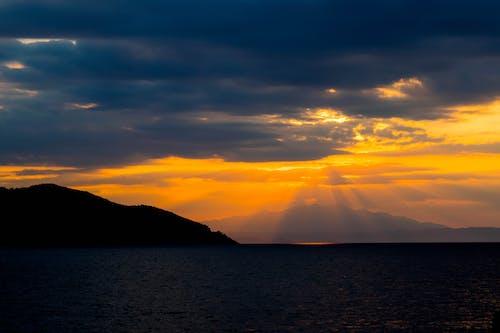日落, 落日下的海灘, 落日的天空 的 免費圖庫相片