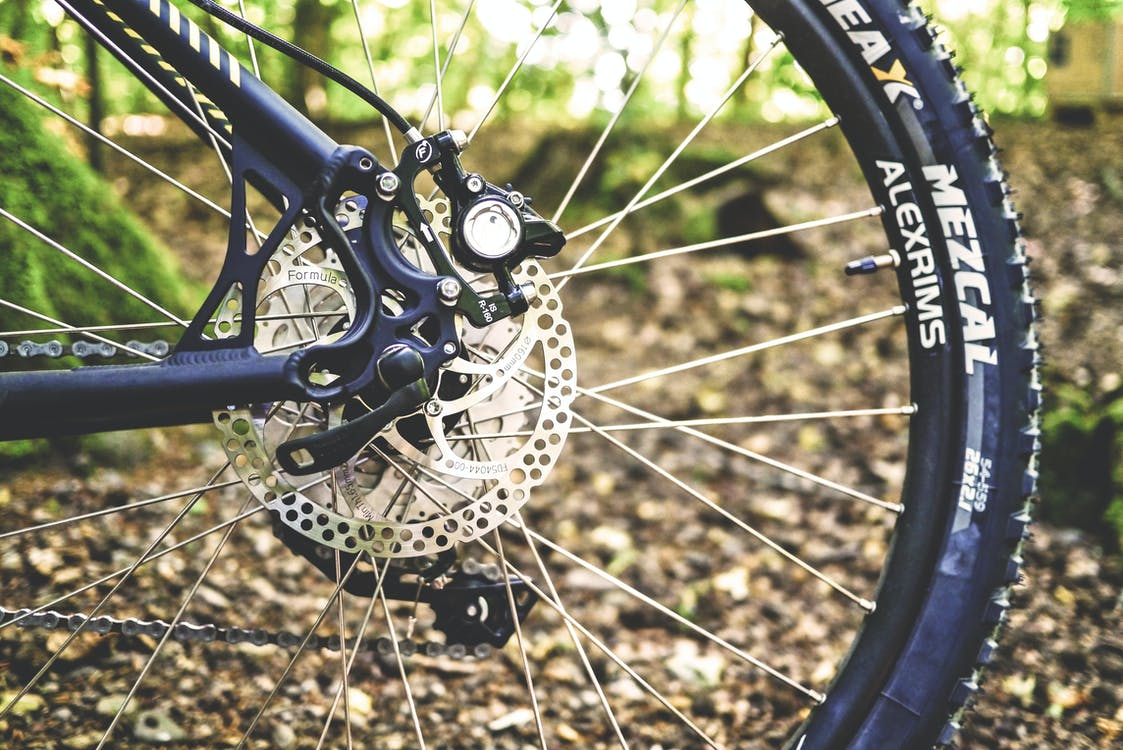 photo of mountain bike tire