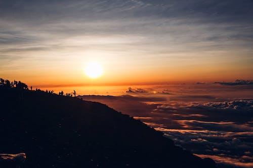 คลังภาพถ่ายฟรี ของ ซิลูเอตต์, ดวงอาทิตย์, ตะวันลับฟ้า, ท้องฟ้า