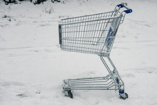 Free stock photo of snow, winter, shopping, cart