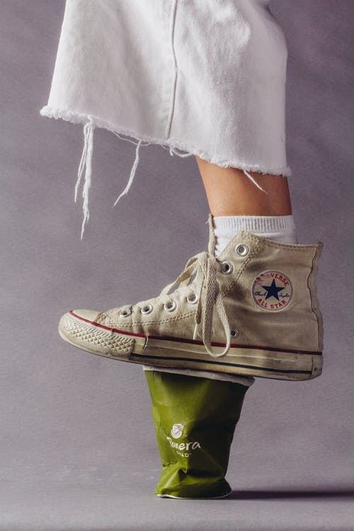 Beige Converse High-top Sneaker
