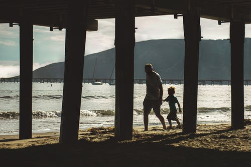 Ilmainen kuvapankkikuva tunnisteilla asu, hiekkaranta, ihmiset, isä