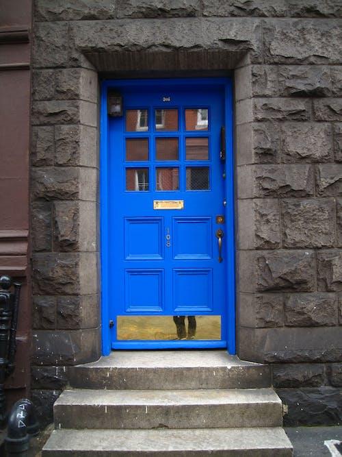 Free stock photo of blue door, door