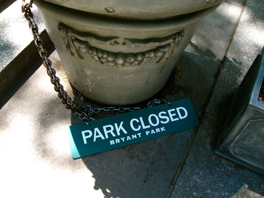 Free stock photo of new york, park, park closed