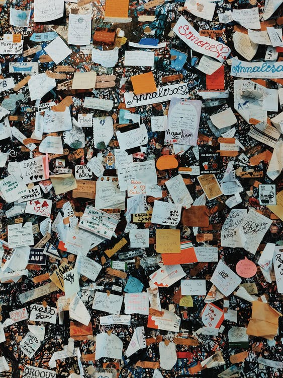 bức thư, ghi chú, giấy