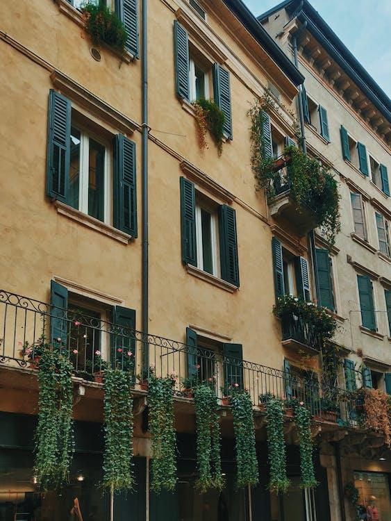 Beige Painted Buildings