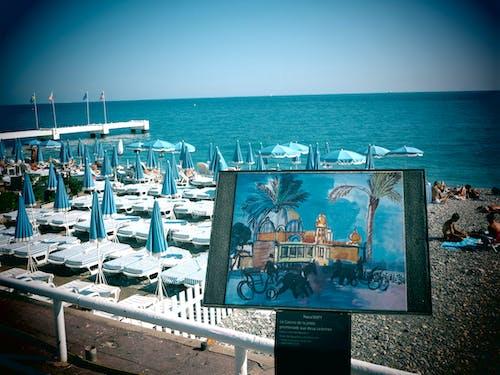 Kostnadsfri bild av cote d azur, franska riviera, strand, trevlig