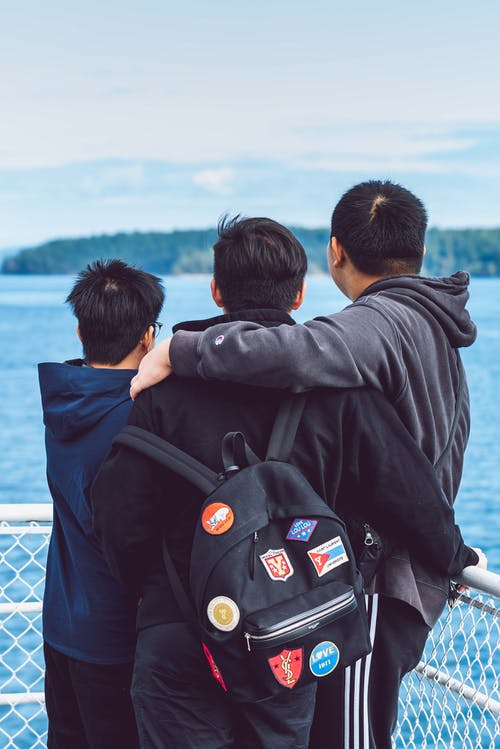 Free stock photo of asian, backpack, boys