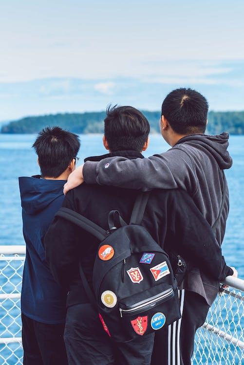 abraços, amizade, Asiático