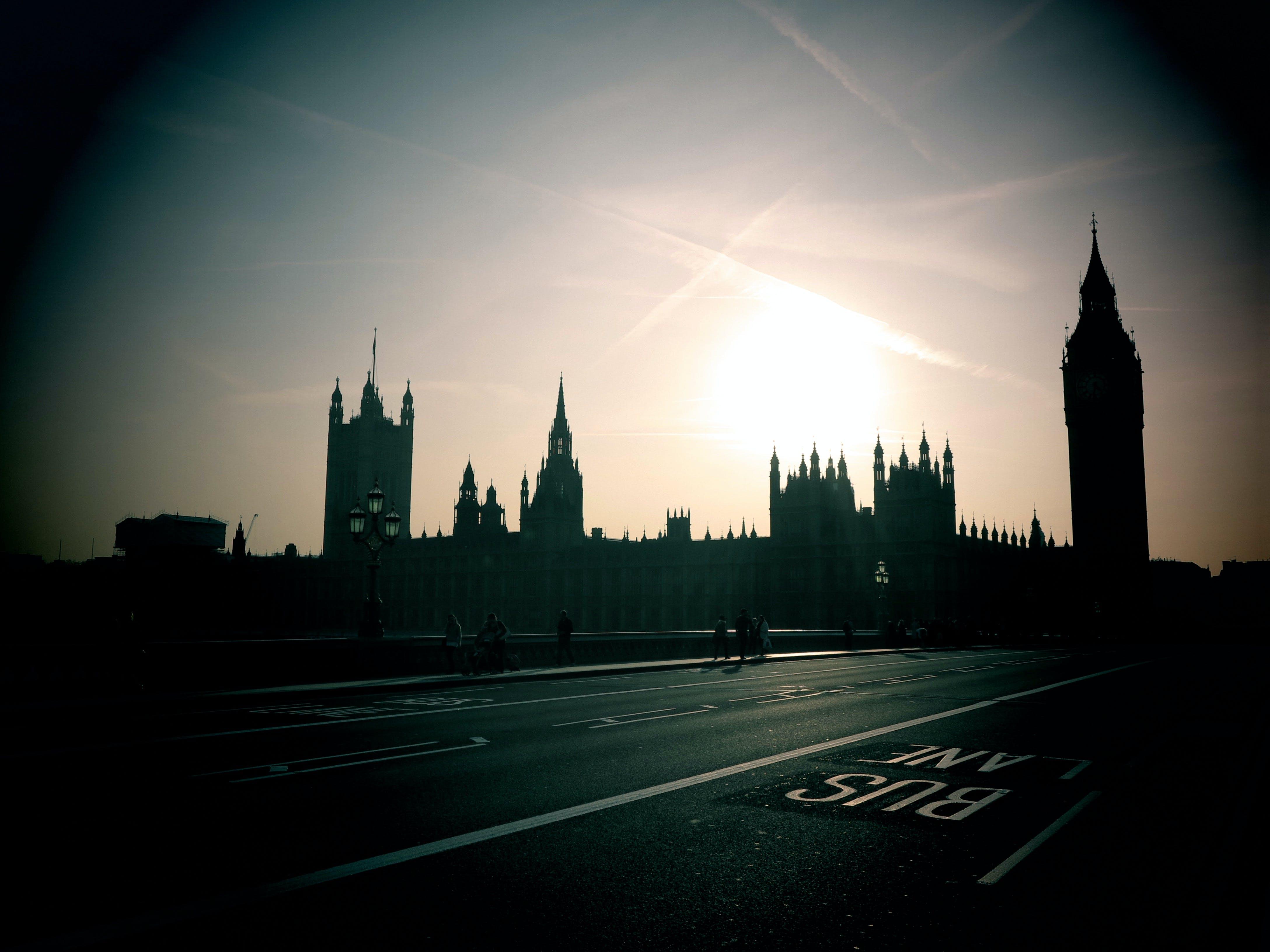 Free stock photo of big ben, london, sunset, UK