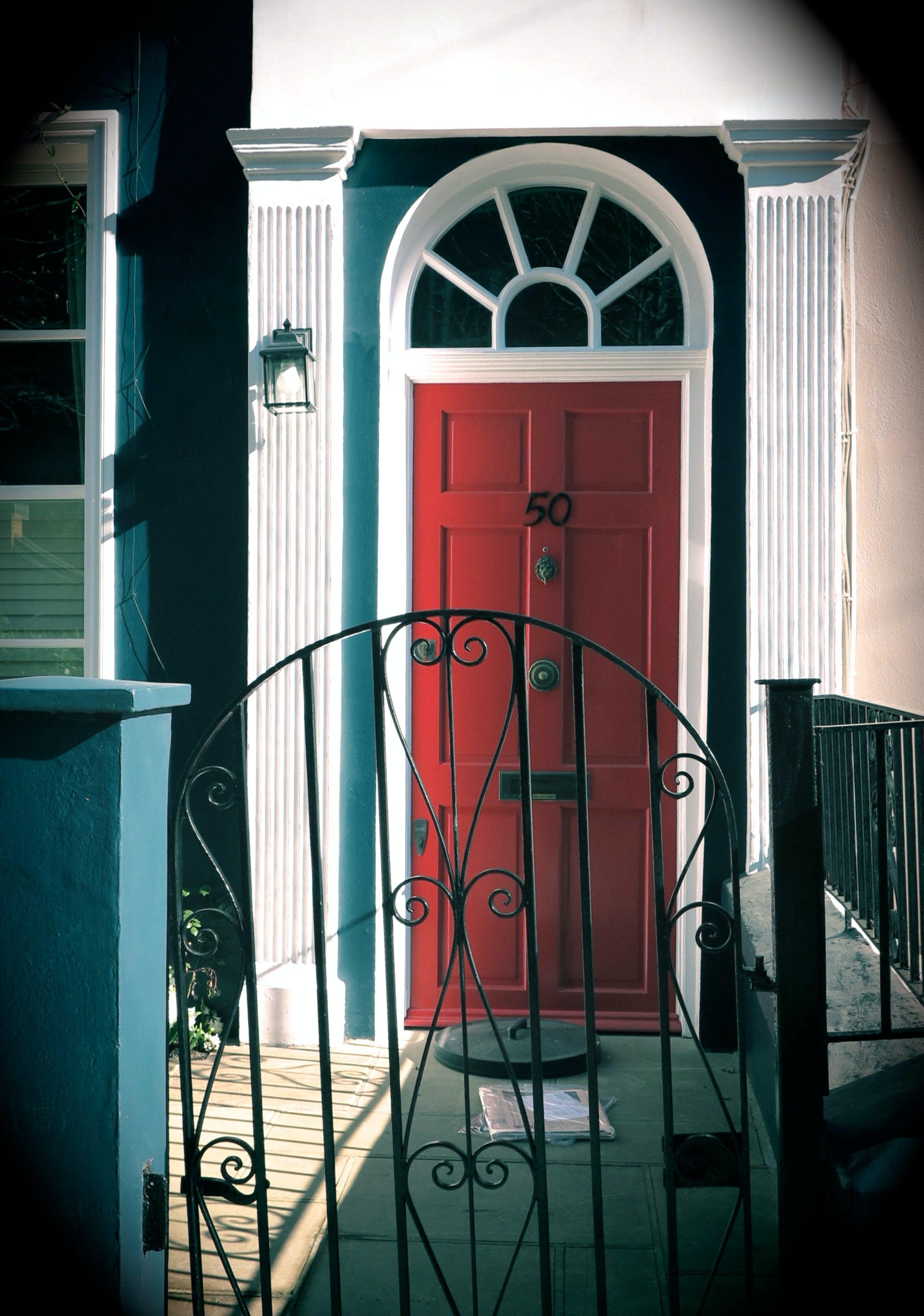 Free stock photo of door, london, red door, UK