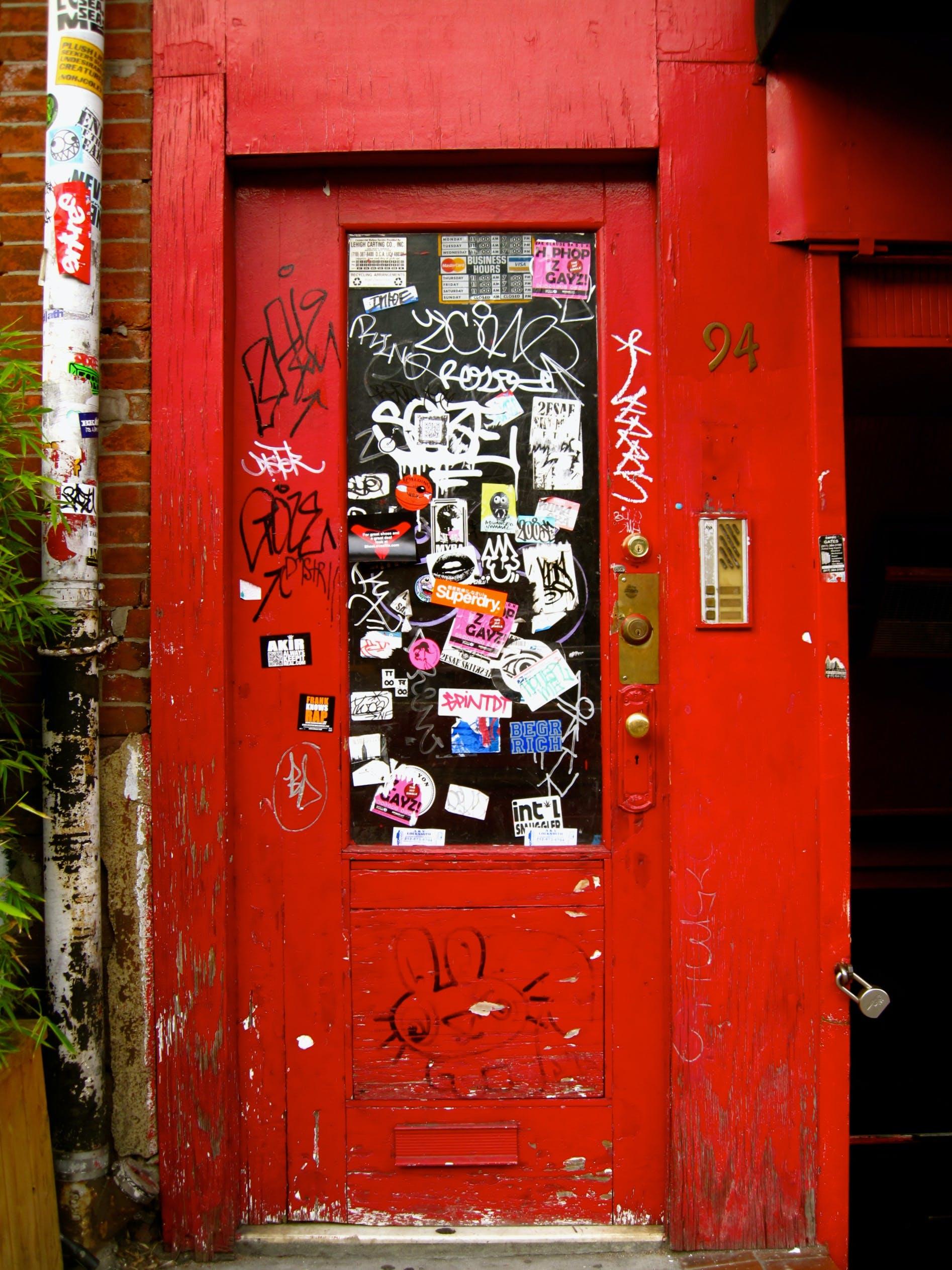 Free stock photo of door, new york, red door, soho