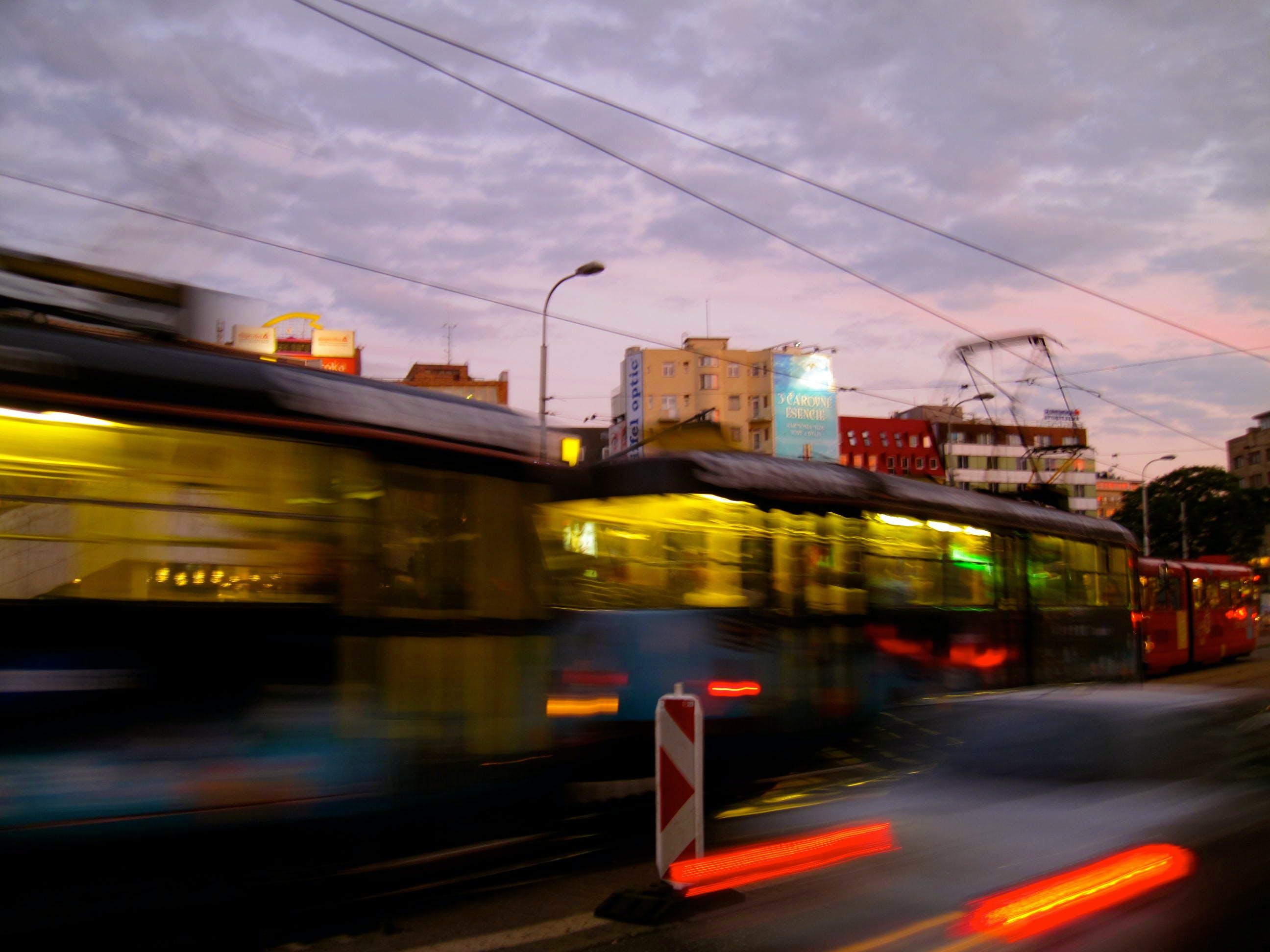 Free stock photo of bratislava, slovakia, sunset, tram