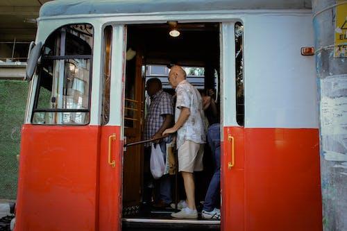 Free stock photo of elderly, old man, public transportation